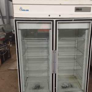Купить Холодильный шкаф polair стеклянный двухдверный