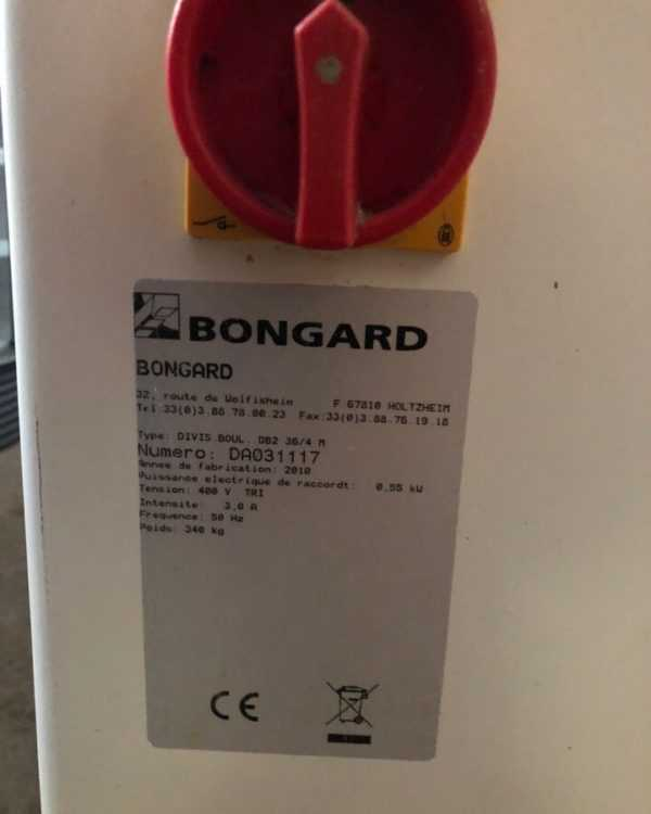 Купить Тестоделитель-округлитель Bongard DB 2 36-4