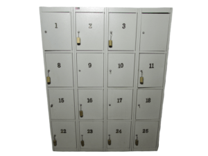 Купить Шкаф металлический хранения для сумок на 16 ячеек 144/183/50