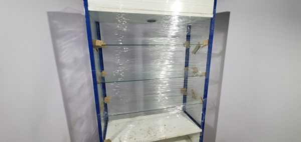 Купить Стойка витрина стекло 105.40.202 синяя