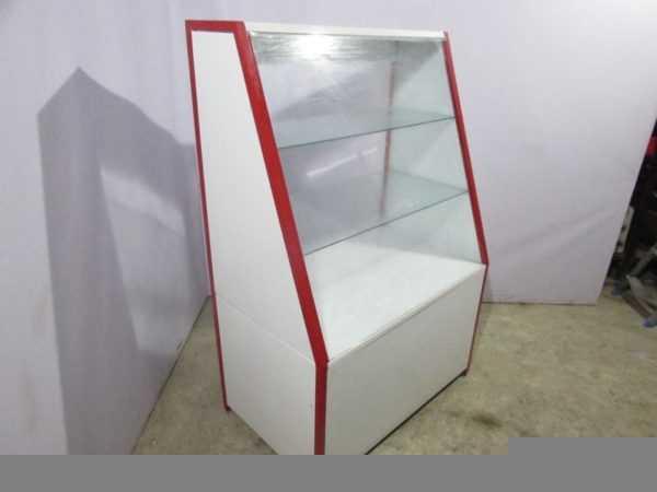 Купить Прилавок торговый нейтральный стекло металл 100/150 глубина 60