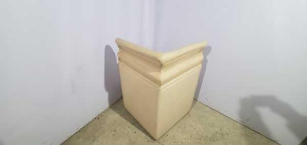 Купить Диван для кафе светлый угол 75/75 см высота 115 см