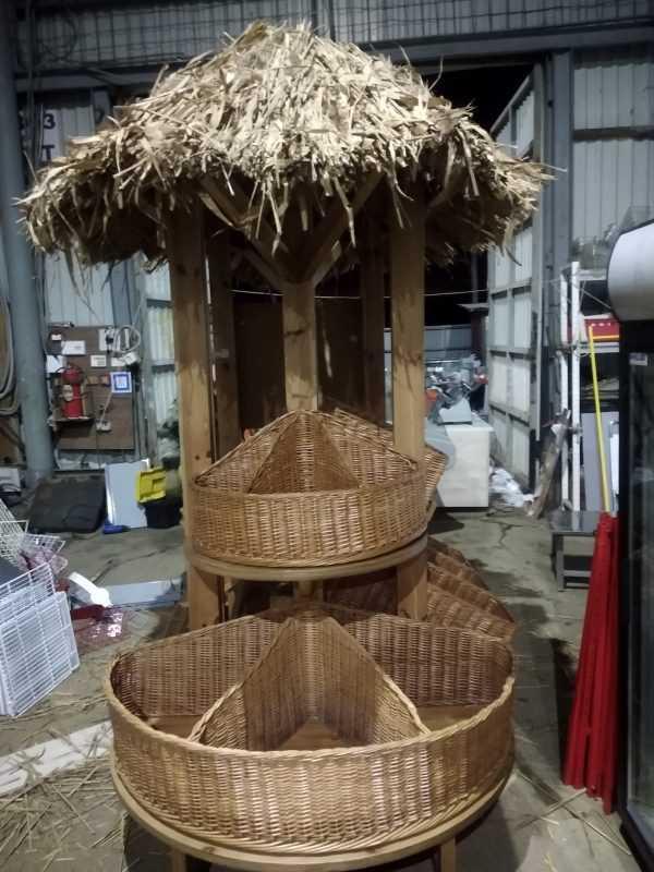 Купить Овощной развал остров 8 корзин с крышей