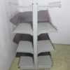 Купить Стеллаж торговый островной серый 100х95 170