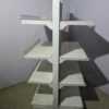 Купить Стеллаж торговый островной белый 100х100 170