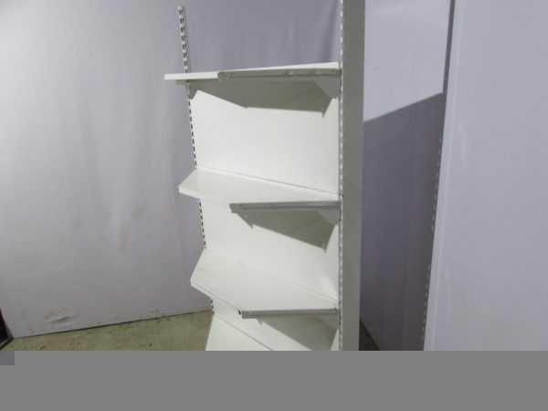 Купить Стеллаж торговый угловой белый 100х50 200