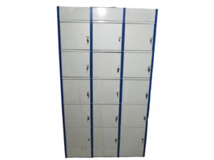 Купить Шкаф для хранения сумок 15 ячеек 121/47/211 ключи белый синий