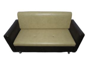 Купить Диван эко кожа комбинированный белый/коричневый 163/71/90