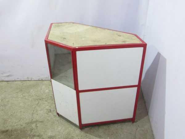 Купить Прилавок угловой сталь цвет белый/красный