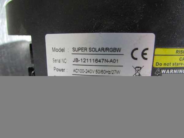 Купить Световой прибор Super Solar/RGBW