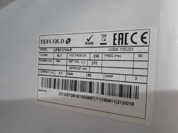 Купить Шкаф морозильный Tefcold UFFS370SD