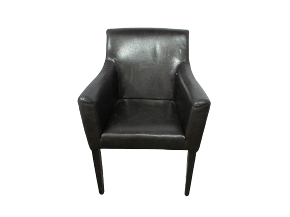 Кресло коричневое Листок