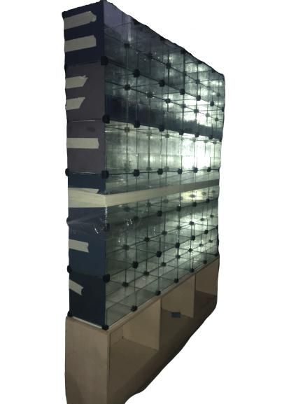 Купить Куб витрина 175/25/105 на 12 ячеек стеклянный