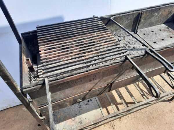 Купить Мангал стальной 120/39/200 с козырьком