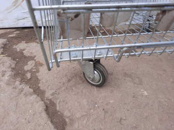Купить Стеллаж сетка для овощей 60/160 на колесах 5 стелажей