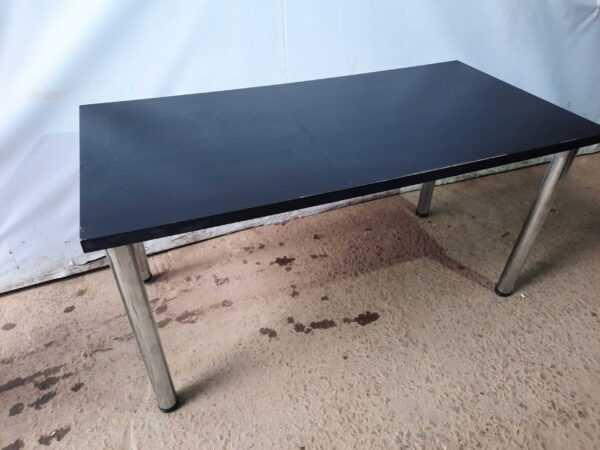 Купить Стол для кафе 150/75/74 крышка дсп венге ноги круглые хром