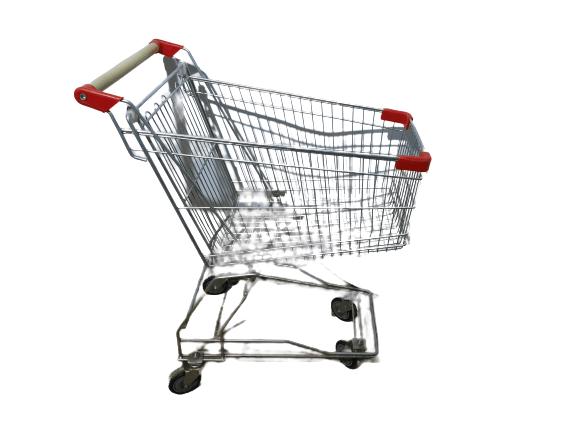 Купить Телега покупательская хром