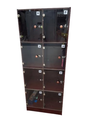 Купить Шкаф для хранения сумок 8 ячеек дсп дверцы стекло 68/45/175