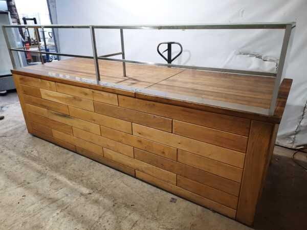 Купить Барная стойка надстройка из стекла длина 310 см/ширина 104 см/высота 95 см