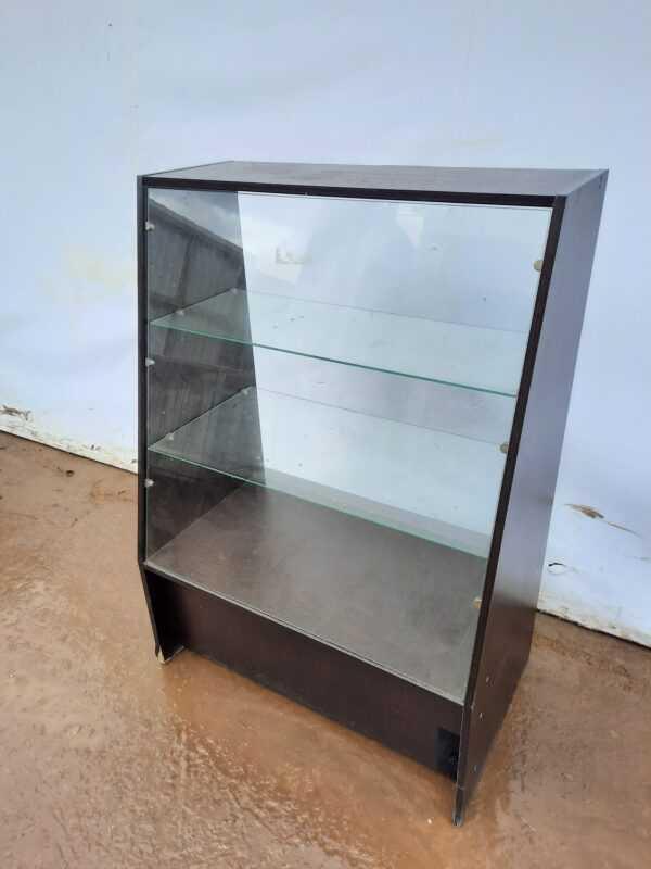 Купить Витрина 85/50/120 для магазина темное дерево стекло