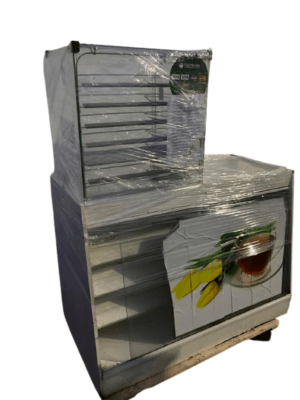 Купить Прилавок 126/53/90 торговый дсп куб стекло