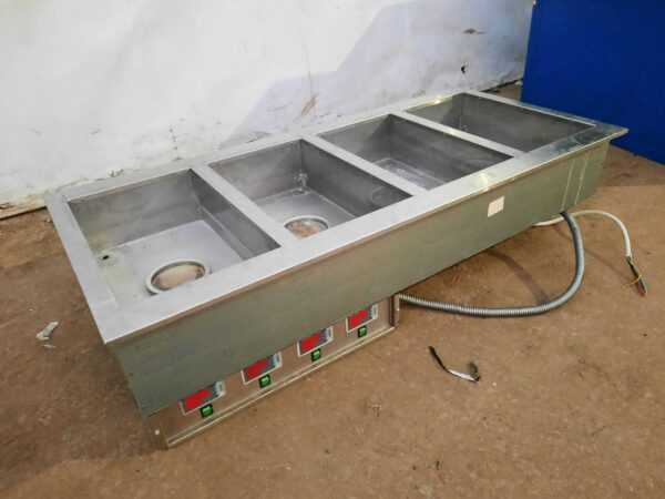 Купить Мармит Технофлот тепловой встраиваемый 31/51/16 внешний размер 66/145/23 4 ванны