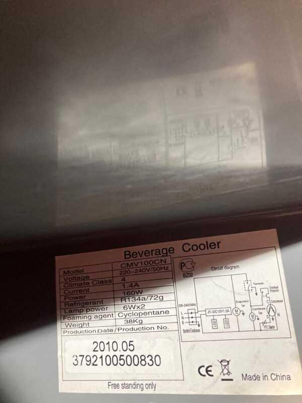 Купить Шкаф Frigoglass CMV 100 CN холодильный барный