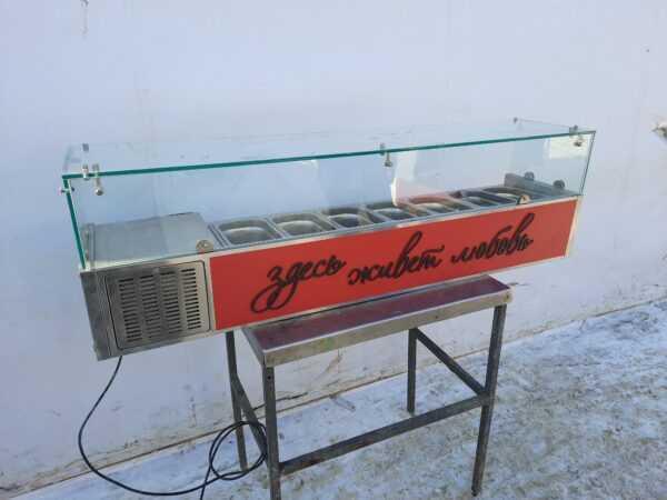 Купить Витрина Viatto VRX 1500/330 холодильная настольная