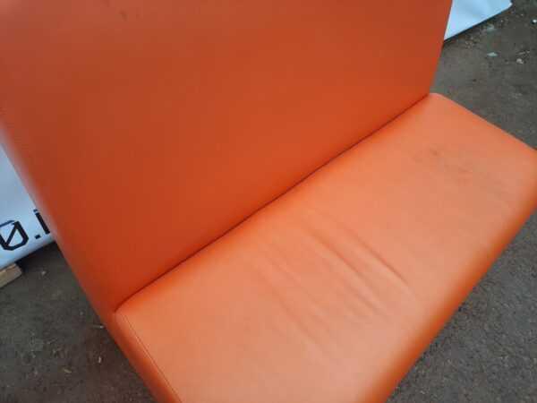 Купить Диван кожзам 125/65/120 оранжевый