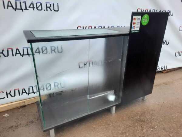 Купить Прилавок 140/50/94 дсп темный со стеклом