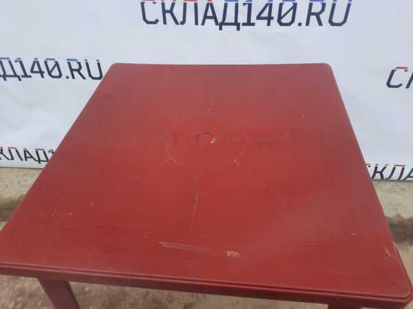 Купить Стол пластиковый красный 80/80/70