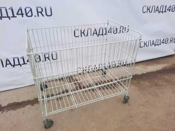 Купить Корзина для распродаж 80/50/70 белая на колесах