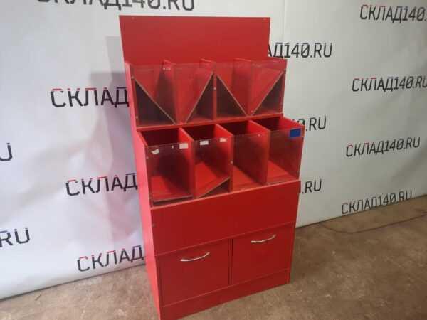 Купить Стеллаж ДСП конфетница 80/42/150 красная