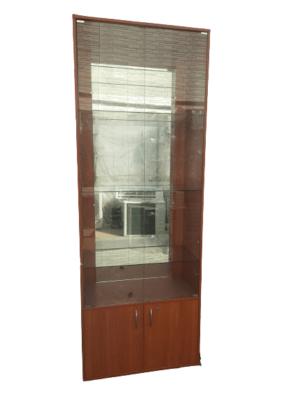 Купить Стеллаж ДСП дверцы стекло 80/40/220