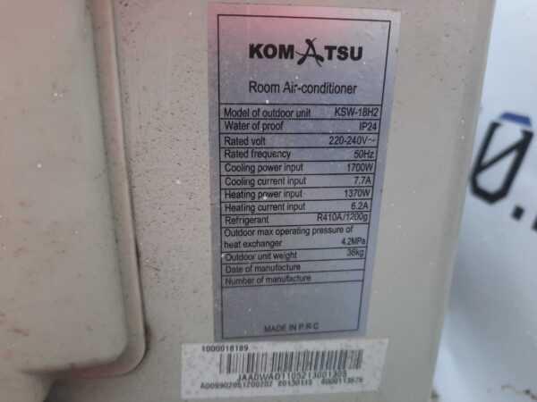 Купить Кондиционер Komatsu KSW-18H2