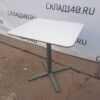Купить Стол для кафе 60/70/73 белый нога серая сталь