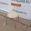 Купить Стул для кафе сидушка кожзам белая ноги хром