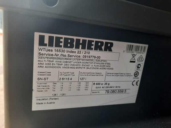 Купить Шкаф винный Liebherr WTUes 16530