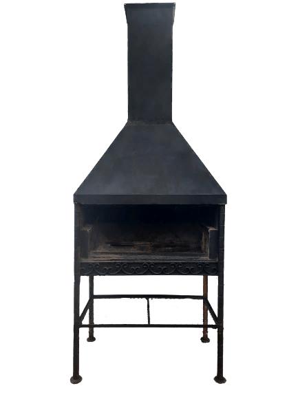 Купить Мангал стальной 130/75/160+вытяжной зонт стальной 130/70/75