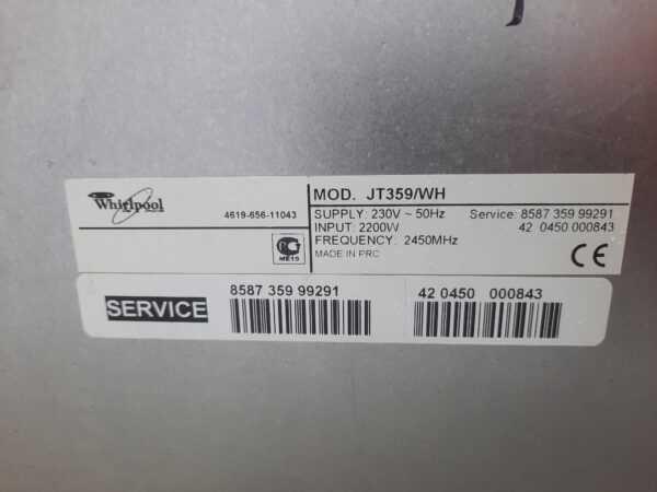 Купить Микроволновка Whirlpool jt 359/WH