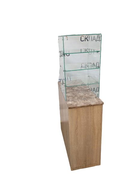 Купить Кассовый прилавок 40/90/90 дсп бежевый со стеклом